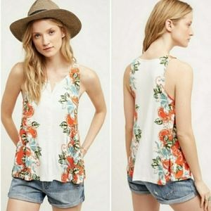 { Anthropologie } Gardenia Swing Tank